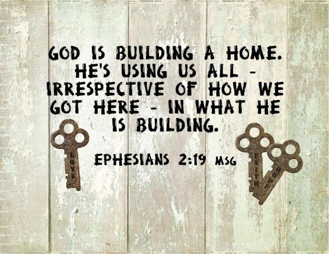 Ephesians 2 19 MSG